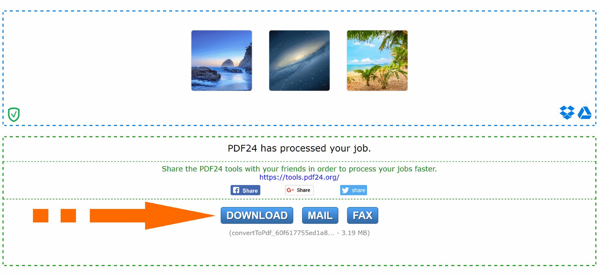 Chuyển file online sang PDF - Miễn phí 100% - PDF24 Tools
