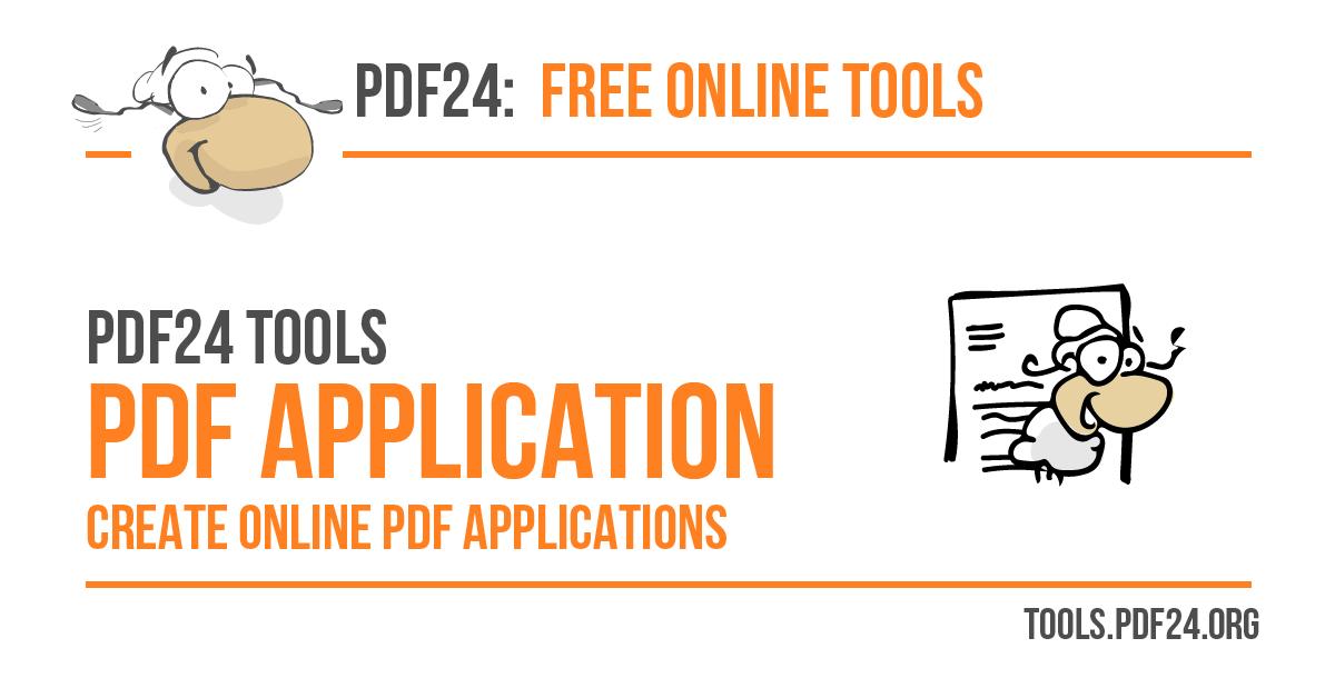 create job applications as pdf 100 free pdf24 tools