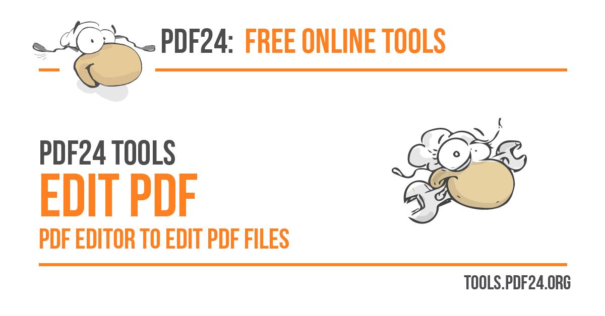 Edit PDF - 100% Free - PDF24 Tools