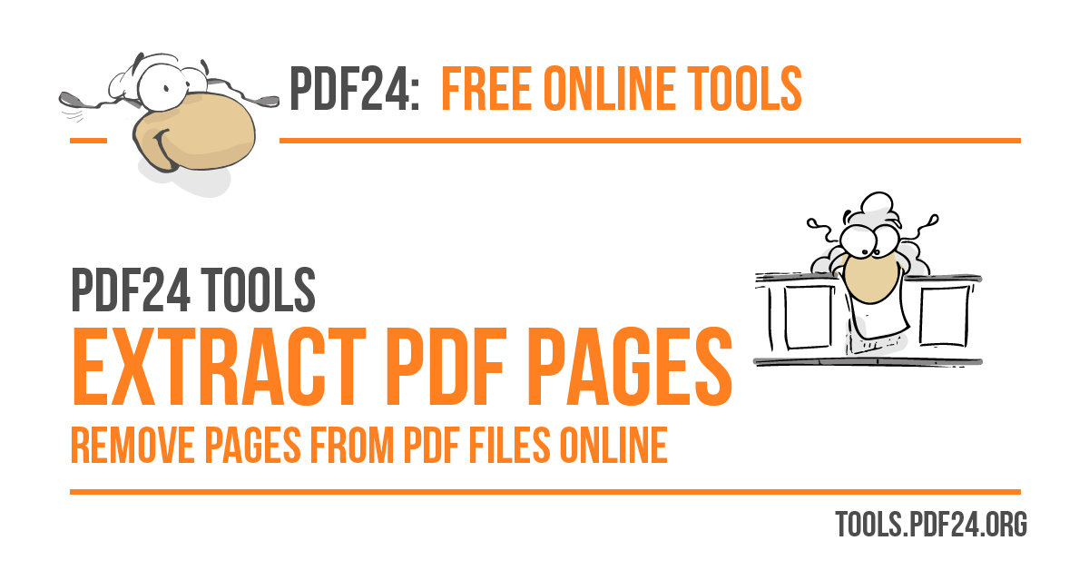 Extract PDF pages - 100% Free - PDF24 Tools