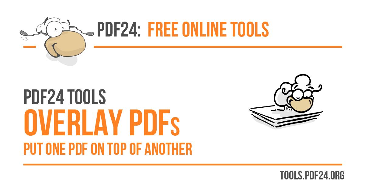 overlay pdf files 100 free pdf24 tools