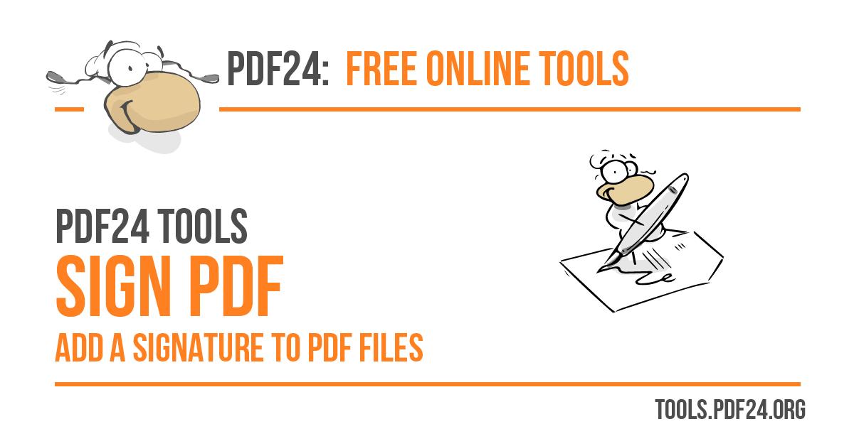 sign pdf files 100 free pdf24 tools